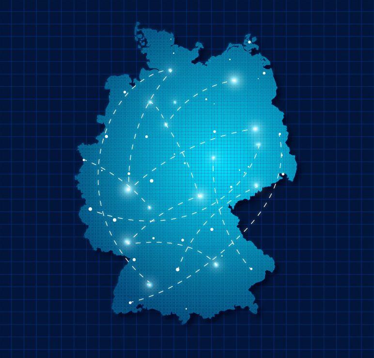 IT Landkarte Deutschland